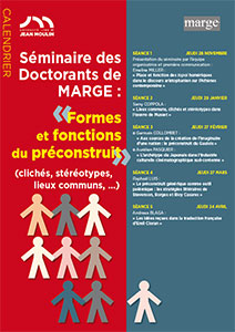 Séminaire des Doctorants de MARGE : Formes et fonctions du préconstruit
